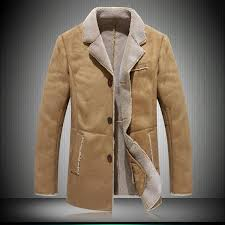 men leather jacket suede faux shearling lamb leather coat outwear garment m 4xl plus size winter camel