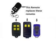 dominator garage door remote control