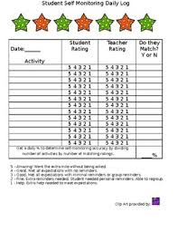 Self Monitoring Checklist Worksheets Teaching Resources Tpt