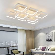 designer modern lighting. new square rings designer modern led ceiling lights lamp for living room lobby remote control aluminum lighting c