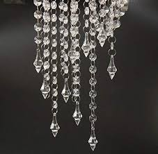 ho ho deal 33 feet clear acrylic crystal garland strand diamond chandelier centerpieces manzanita haning wedding