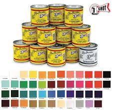 1 Shot Paint Color Chart