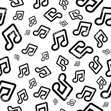 音符とベクトルの背景壁紙や包装紙のシームレスなパターン アイコンのベクターアート素材や画像を多数ご用