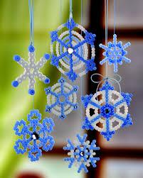 Nabbi Bügelperlen Eiskristalle Weihnachten