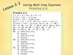 2 solving two step equations form k jennarocca