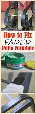 cast aluminum patio furniture fading
