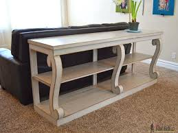 Diy Sofa Table Plans Sofa Table Lovely Remodel The Furniture With