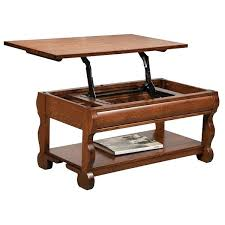 lifting top coffee table old classic sleigh open lift top coffee table lifting coffee table top