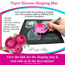 Peony Paper Flower Paper Flower Printable Templates Diy Peony Paper Flowers Pdf Printable Flower Templates Diy Paper Flowers Paper Flower Bouquet