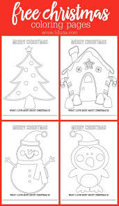 Small Picture Coloring Pages Free Holiday Coloring Sheets I Love Christmas Free