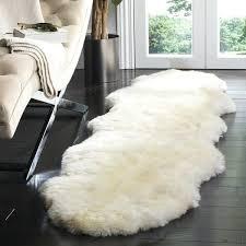 flokati sheepskin rug shining white 2 exciting hand woven pelt x 8 free
