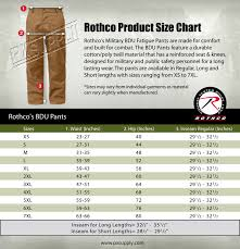 Rothco Pants Size Chart Dark Blue Camouflage Military Bdu Cargo Bottoms Fatigue Trouser Camo Pants 4712