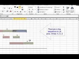 Three Machine Flow Shop Problem Drawing Gantt Charts