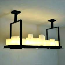 pillar candle chandelier fake transform an ordinary with resin rectangular lighting