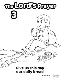 Give Us This Day Our Daily Bread Coloring Page Free Printable