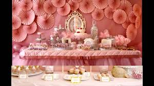 Small Picture Baby girl birthday party themes decorations at home YouTube