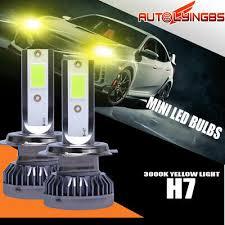 <b>2X Mini</b> H7 светодиодный фары наборы лампа Hi/Lo луч туман ...