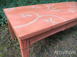 coral furniture. Coral Is The Hot Color Of Season, Chalk Paint, Painted Furniture, Furniture