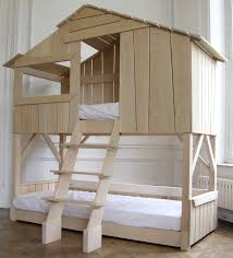 House Bunk Bed Kids Treehouse Bunkbed In Natural Pine Mdf Projects To Try