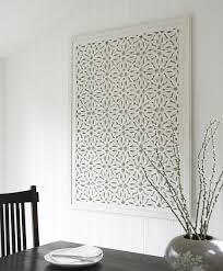 white decorative wall panel