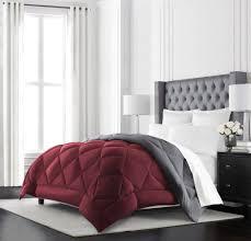 burdy comforter sets beckham hotel collection goose down alternative reversible comforter all season