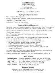 Sample Clerk Resume Cute Examples Of Resumes For Office Jobs Free
