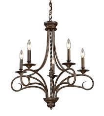 5 light chandelier bronze elk 5 5 light inch antique bronze chandelier ceiling light photo 5