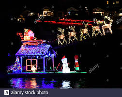 Christmas Light Installation Newport Beach Ca Newport Beach Christmas Boat Parade Stock Photos Newport