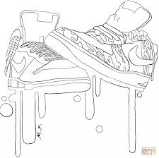 Coloring Pages Tremendous Air Jordan Coloring Pages Nike Sneakers