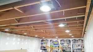 basement lighting. LED Can Light Installation Basement Lighting N