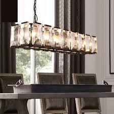 chandelier large rectangular chandelier lighting hanging brown iron with box crystal lamp jpg