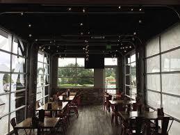 glass garage doors restaurant. Glass Doors On Covered Patio At Restaurant Garage