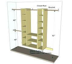 Closet Rods Walmart Mesmerizing Double Hanging Closet Rod Dorm Room Designs Double Hanging Closet