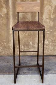 metal bar stools with wood seat. Engaging Kitchen Metal Bar Stools Come With Brown Stool Frames And Wooden Seat Back. Awesome Design Ideas Of Wood W