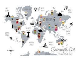 children wall decal map wall decal