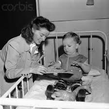 best polio images fibromyalgia science news  katherine hepburn ing a child in a polio hospital early 1940s
