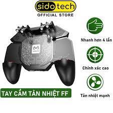 Tay cầm chơi game điện thoại SIDOTECH Memo AK88 có quạt tản nhiệt bắn PUBG  / FREE FIRE / ROS kết nối 6 ngón linh hoạt - Phụ kiện Gaming Nhãn hàng