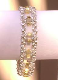Pin by Myrna Fletcher on Beading/Jewelry making | Chainmaille bracelet,  Chain maille jewelry, Wire wrapped jewelry