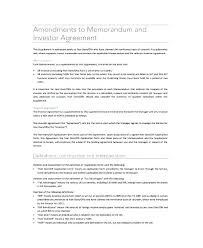 Business Investment Agreements Enchanting Small Business Investment Agreement Template Word Document Form Free