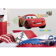 Nascar Bedroom Furniture Adesivo Carros 2 Relacmpago Mcqueen Gigante Disney Remova Vel