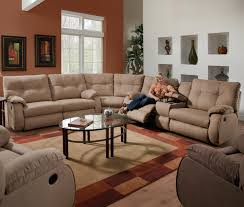 Black Leather Sectional Sofa With Recliner Sofas Marvelous Fabric Reclining Sectional Sleeper Sectional