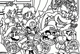 Coloring Pages Mario Coloring Coloring Pages Nintendo Wii Mario Brothers
