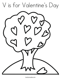 V Day Coloring Pages Tree With Hearts Coloring Page Veterans Day