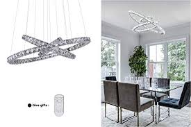 Contemporary lighting for dining room Led Kai Crystal Chandelier Island Pendant Light Dimmable Temperature Adjustable Led Contemporary Lamp With 72w 8640lm Adjustable Amantesdeldisenoinfo Kai Crystal Chandelier Island Pendant Light Dimmable Temperature