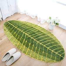 green leaf rug creative green leaf area rug carpet bedroom parlor living room bathroom soft fleece