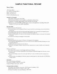 Resume Example Pdf Beautiful 51 Lovely Functional Resume Example