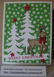 Stampin Up Seasonal Decorative Masks Barb Mann Stampin' Up Demonstrator SU Santa's Sleigh 53