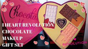 i heart revolution chocolate heart gift set review swatches limited edition