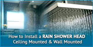how to install a rain shower head in