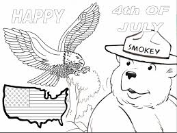 Smokey The Bear Coloring Pages Coloring